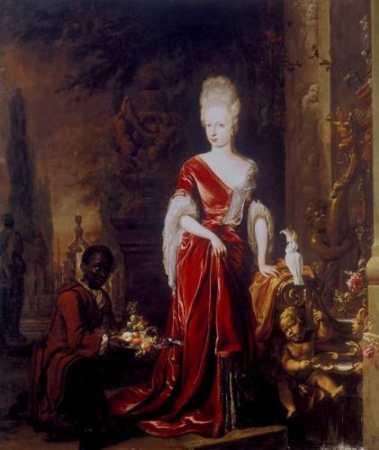 Elisabeth_Charlotte_d'Orleans lorraine_Jan_Weenix_1697