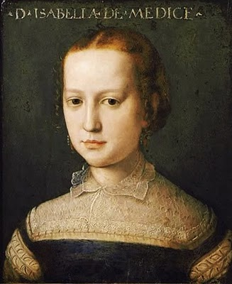 Agnolo Bronzino (1503-1572)   Isabella Medici 1565
