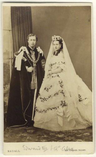 NPG Ax24156; King Edward VII; Alexandra of Denmark by John Jabez Edwin Mayall
