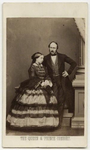 NPG x26100; Queen Victoria; Prince Albert of Saxe-Coburg-Gotha by John Jabez Edwin Mayall