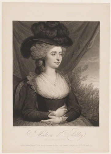 NPG D930; Frances d'Arblay ('Fanny Burney') by Charles Turner, published by  Paul and Dominic Colnaghi & Co, after  Edward Francisco Burney