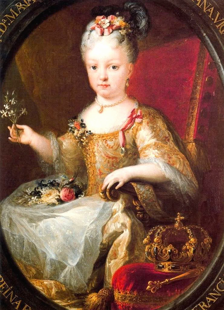 306-the childre-H.R.H. Infanta Mariana Victoria of Spain, later Queen of Portugal  (1718-1781)   in maria ana vict of spain