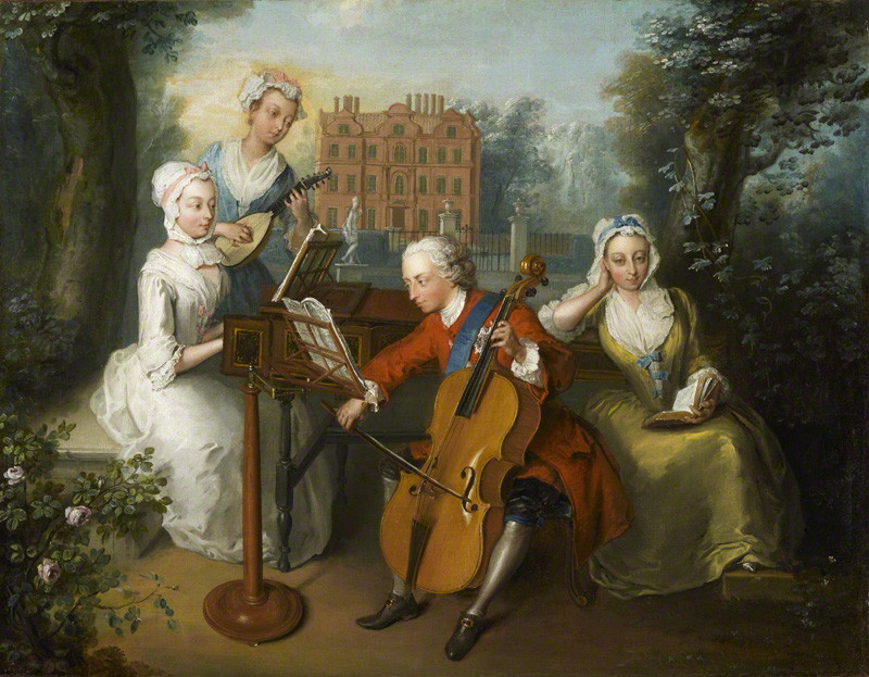 NPG 1556; 'The Music Party' by Philip Mercier