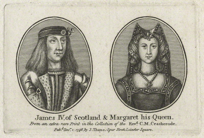 NPG D23903; King James IV of Scotland and Queen Margaret published by John Thane