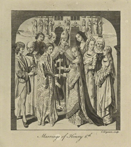 NPG D23763; The Marriage of King Henry VI to Margaret of Anjou by Charles Grignion