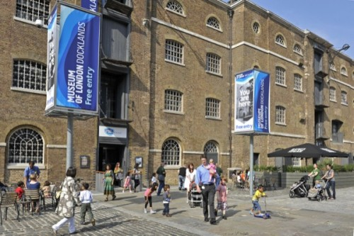 Exterior of the Museum of London Docklands