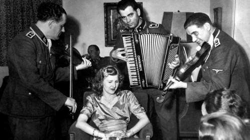 SS-musicians-play-to-Eva-Braun-at-her-sister-s-wedding-ca-1945-Courtesy-CSU-Arch